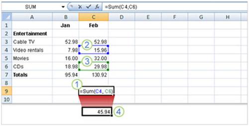Tìm hiểu Excel 2007: Cách nhập công thức - 6