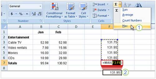 Tìm hiểu Excel 2007: Cách nhập công thức - 9