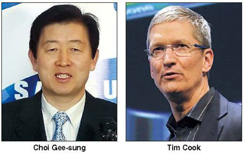CEO Apple và Samsung gặp nhau tại tòa, Thời trang Hi-tech, Apple va Samsung, Apple va Samsung ra toa, Apple va Samsung gap nhau tai toa, Apple, Samsung, iPhone, Galaxy, Samsung Galaxy, dien thoai iPhone, cuoc chien phap ly, bang sang che, Tim Cook, Gee-Sung Choi