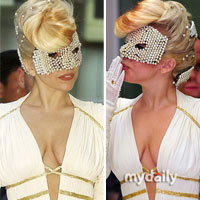 Lady Gaga khoe ngực lỏng lẻo ở Hàn Quốc