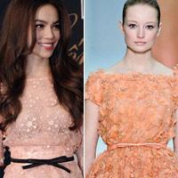 Váy Hồ Ngọc Hà đụng kiểu dáng Elie Saab