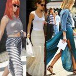 Thời trang - Sao chống nắng sành điệu với maxi skirt