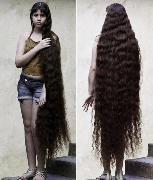 Cô gái tóc dài 1,6 mét đã xuống tóc - 2