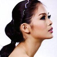 Cá tính với mốt tóc buộc chặt
