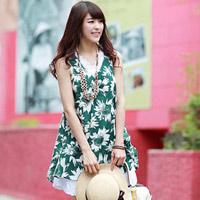 Mặc đẹp với đầm suông vải hoa ngày hè