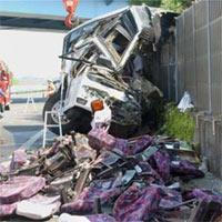 Nhật: Xe buýt gặp nạn, 46 người thương vong