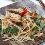 Ẩm thực - Gỏi đu đủ khô cá lóc nhậu ngon cuối tuần