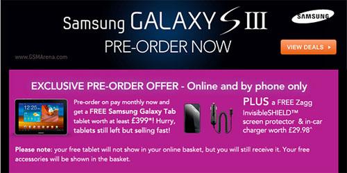 Mua Samsung Galaxy S3 miễn phí Galaxy Tab - 1