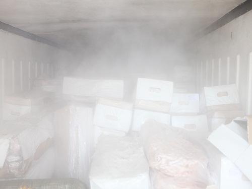 Bắt giữ xe tải chở gần 14 tấn thịt thối - 2