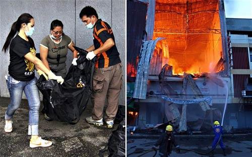 Philippines: Cháy cửa hàng, 17 người chết - 1