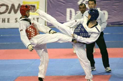 Giải VĐ taekwondo châu Á: Vượt qua ĐKVĐ Asiad, Lê Huỳnh Châu đoạt HCĐ - 1