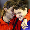 """Tennis 8: Nadal học Federer """"luyện công"""""""