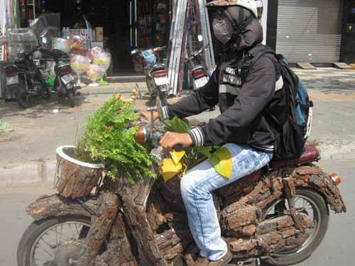 """Choáng với """"xe máy thân thiện môi trường"""" - 1"""