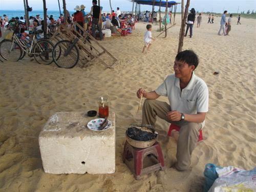 Về bãi Rạng ăn cá chuồn xanh nướng - 2