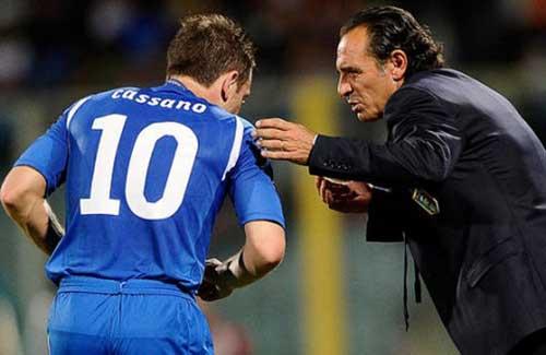 Cassano có tên trong danh sách sơ bộ của Italia - 1