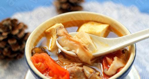 Canh đậu hũ thịt viên thơm hương nấm - 13