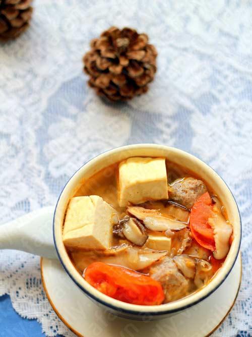 Canh đậu hũ thịt viên thơm hương nấm - 14