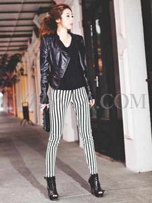 Kéo dài đôi chân bằng quần sọc dọc - 15