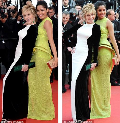"Cannes nóng dần khi các người đẹp ""mát"", Phim, Cannes 2012, LHP Cannes 2012, sao hollywood, Jane Fonda,Eva Longoria, Marion Contillard, Jada Pinket Smith, Nicole Scherzinger, Dien vien"