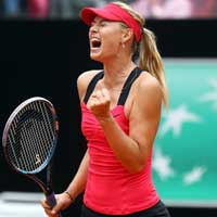 Sharapova - Li Na: Nght th (Video tennis, CK Rome Masters)