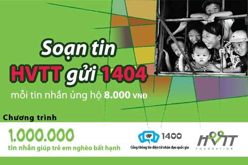 1 triệu tin nhắn giúp trẻ em nghèo, bất hạnh - 1