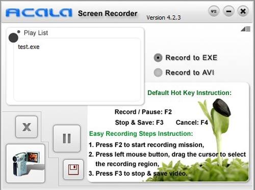 Acala Screen Recorder – Quay phim màn hình và xuất ra file EXE - 1