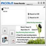 Công nghệ thông tin - Acala Screen Recorder – Quay phim màn hình và xuất ra file EXE