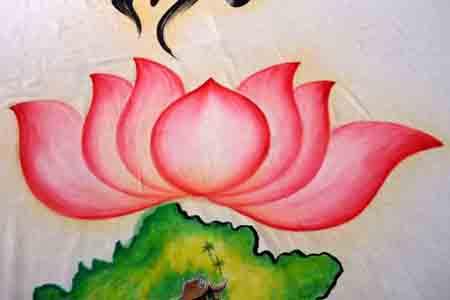 Bức họa chân dung Bác Hồ trên mành tre lớn nhất - 3