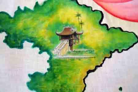 Bức họa chân dung Bác Hồ trên mành tre lớn nhất - 4