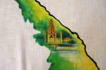 Bức họa chân dung Bác Hồ trên mành tre lớn nhất - 5