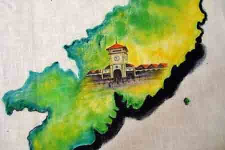 Bức họa chân dung Bác Hồ trên mành tre lớn nhất - 6