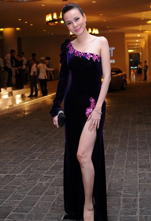 """Váy xẻ """"thấu trời"""" của mỹ nhân Việt - 8"""