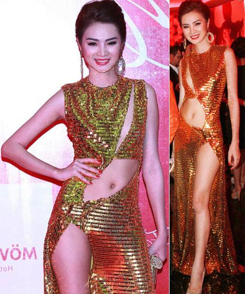 """Váy xẻ """"thấu trời"""" của mỹ nhân Việt - 6"""