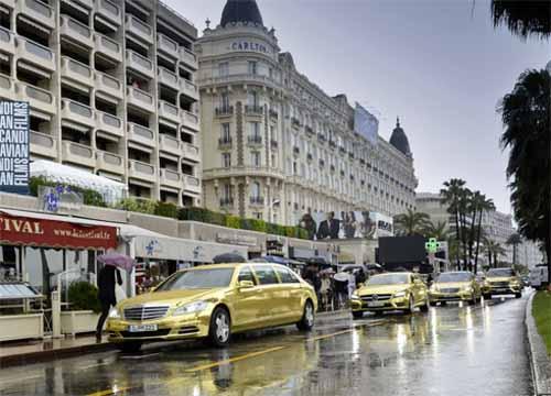 """Mercedes """"mạ vàng"""" đón VIP tại Cannes - 1"""