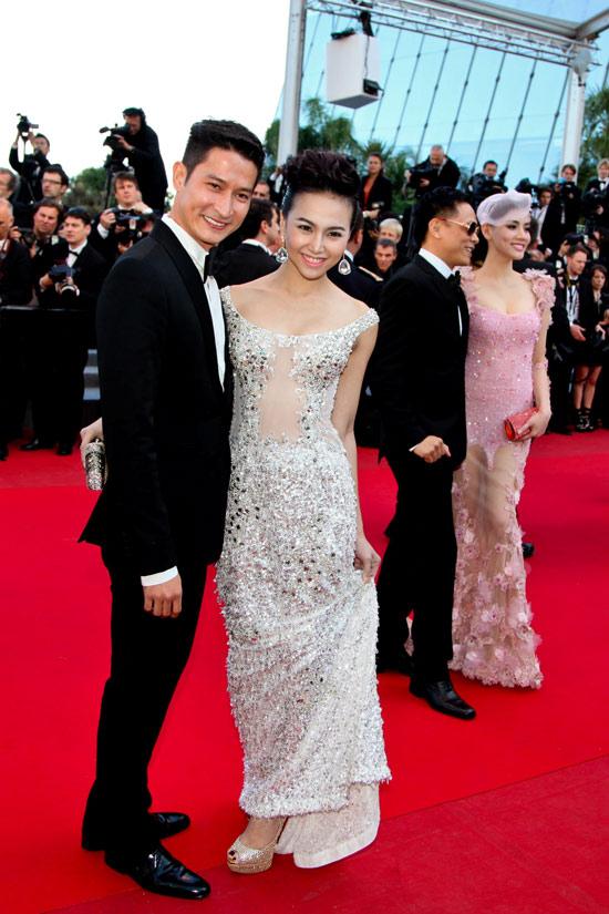 """Cannes: Sao Việt """"so găng"""" với sao ngoại - 11"""