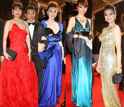 """Cannes: Sao Việt """"so găng"""" với sao ngoại - 1"""