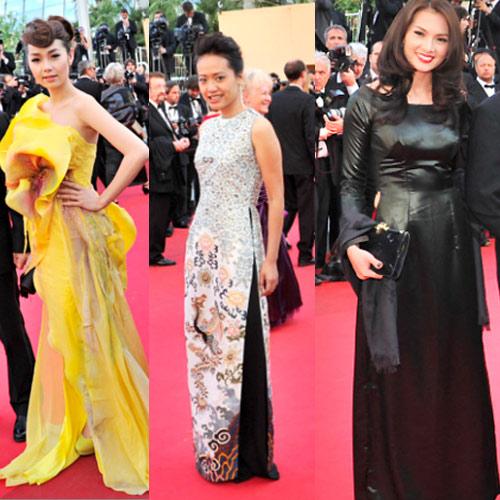 """Cannes: Sao Việt """"so găng"""" với sao ngoại - 2"""