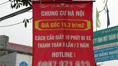 """Thị trường Hà Nội """"sốt"""" địa ốc… bán rong - 1"""
