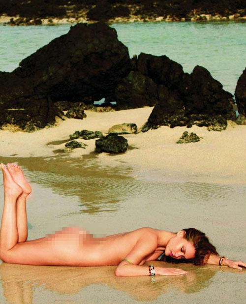 Bar Refaeli khỏa thân trên Elle - 1