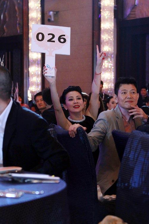 Lưu Gia Linh nổi bật trong tiệc từ thiện - 3
