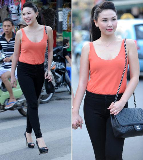Ngắm Quỳnh Thư mặc đẹp cho dáng chữ nhật - 2