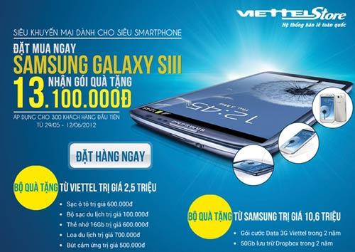 Sở hữu ngay Samsung Galaxy SIII tại Viettelstore - 1