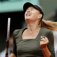 Zakopalova - Sharapova: Ngc dng bt thnh (video tennis, vng 4 Roland Garros)