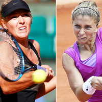 Sharapova  Errani: Gic m c tht (video tennis, chung kt Roland Garros)