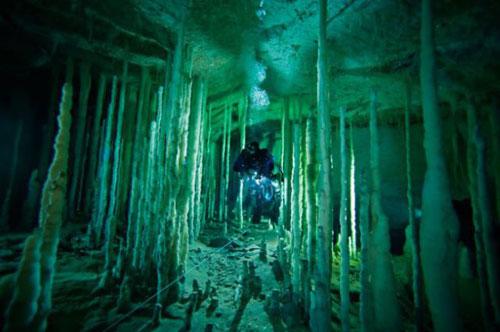 Những hang động kỳ thú dưới đáy biển Bahamas - 1