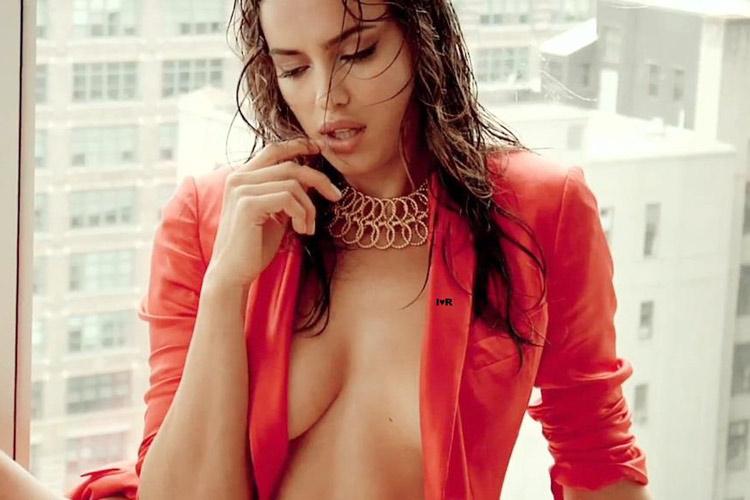 Hậu trường Irina Shayk khoe ngực hút mắt - 8