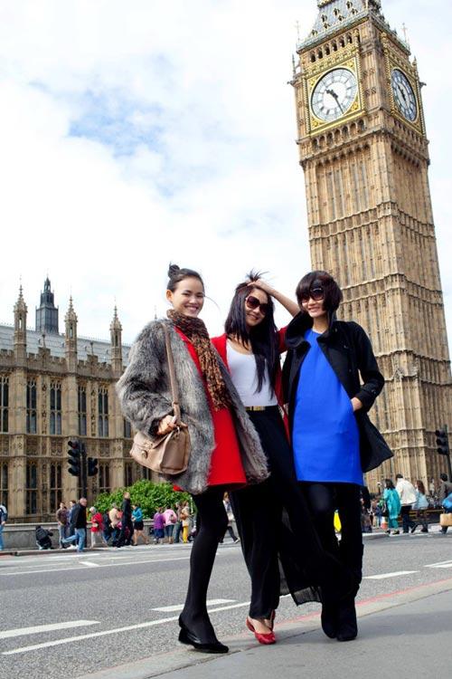 Tuyết Lan, Trà My khám phá London - 9