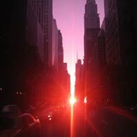 Ngm hong hn ngon mc  Manhattanhenge