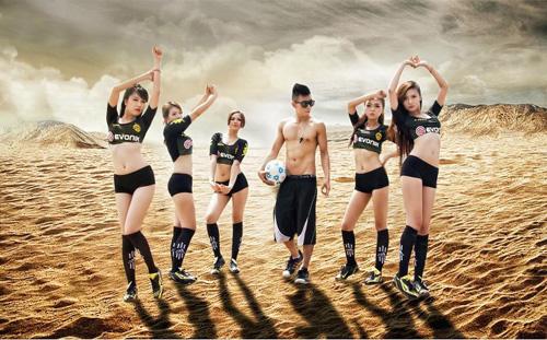 Đội bóng Nu Phạm gợi cảm cổ vũ Euro - 3