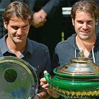 Federer - Haas: Kịch tính (Video tennis, CK Gerry Weber Open)